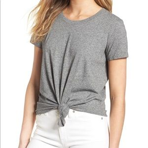 Madewell cropped tie front tee shirt
